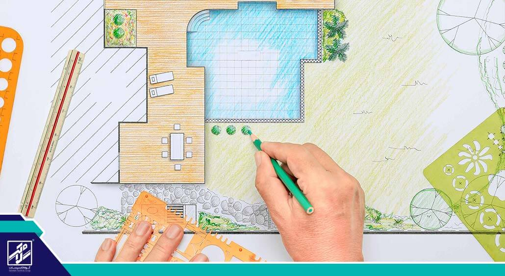 طراحی ابتدایی استخر خانگی